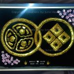 041-DOUBLE-FAMILY-CREST-CIRCLES-CHERRY-BLOSSOMS