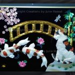 088-DOUBLE-KOIS-CAT-BAMBOO-CHERRY-BLOSSOM-BRIDGE