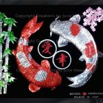 089-DOUBLE-KOIS-LOVE-HAPPINESS-BAMBOO-CHERRY-BLOSSOMS