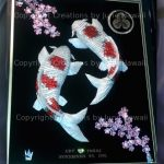 092-DOUBLE-KOIS-UPSTREAM-CHERRY-BLOSSOM-FAMILY-CREST