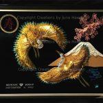 0043-DOUBLE-TSURU-MT-FUJI-CHERRY-BLOSSOM