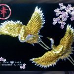 Double_Gold-Silver_Cranes_Happpiness_Cherry_Blossoms