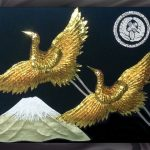 Double_Gold_Cranes_Mt_Fuji