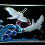 Double_White_Cranes_-_Wave_-_Good_Fortune