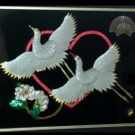 Double_White_Cranes_Ume_Flowers_Heart