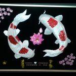 Double_White_Kois_-_Lotus_-_Cherry_Blossoms