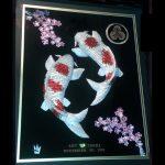 Double_White_Kois_-_Upstream_-_Cherry_Blossoms